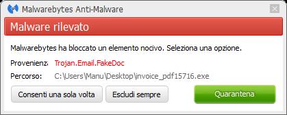 CTB-Locker bloqué par Malwarebytes Anti-Malware Premium