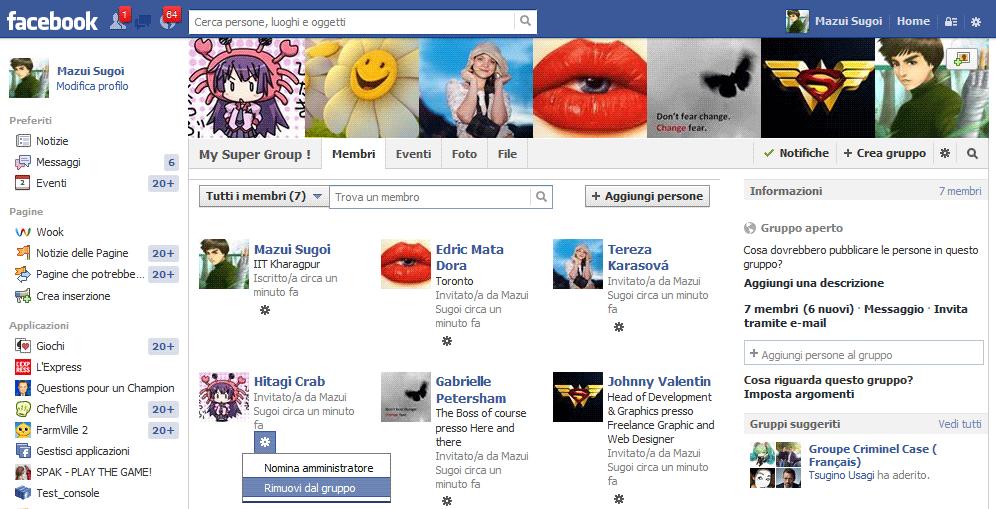 Eliminare un gruppo di facebook - 1
