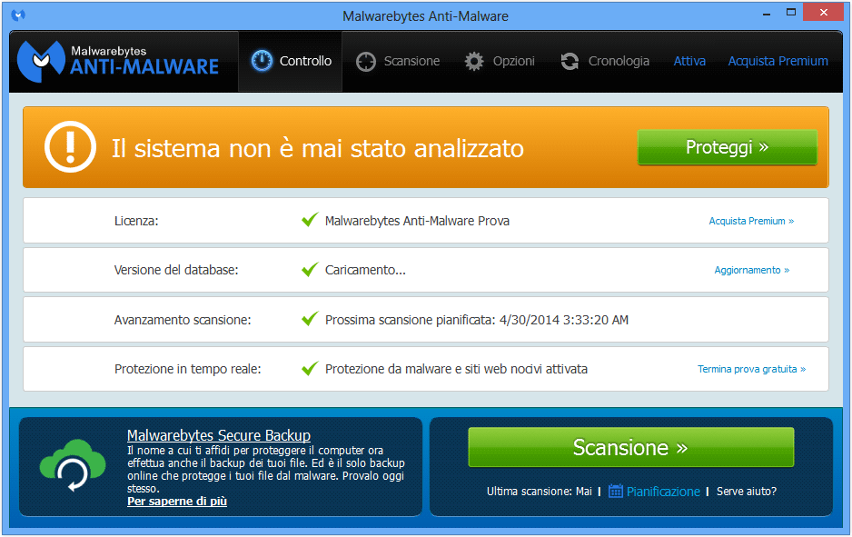 Come eliminare Find People con il programma MalwareBytes Anti-Malware