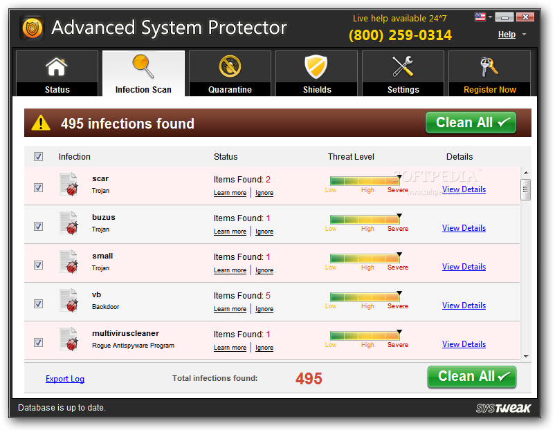 eliminare advanced-system-protector