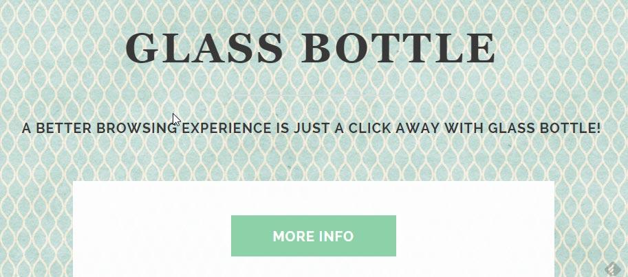 glass bottle ads