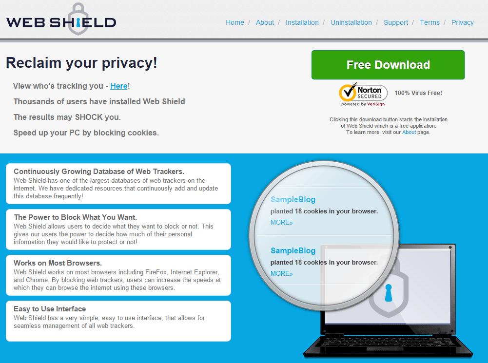 web shield website