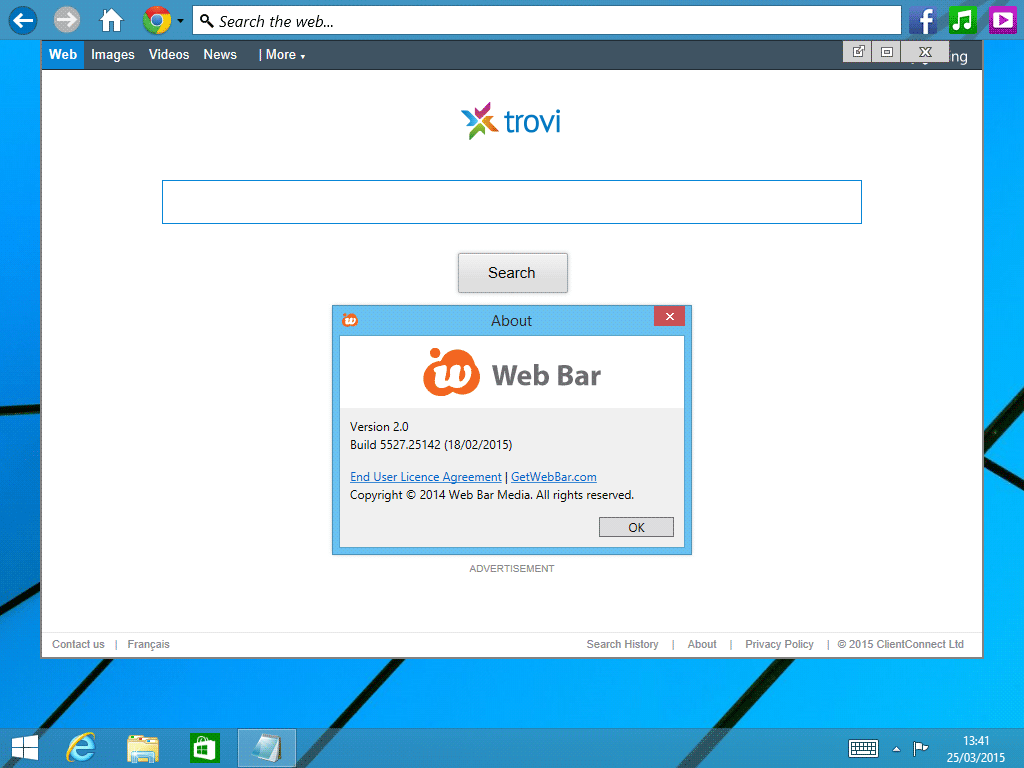 web bar windows